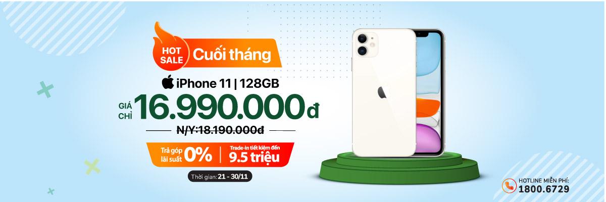 Hot Sale cuối tháng – iPhone 11 128GB giá chỉ 16.990.000