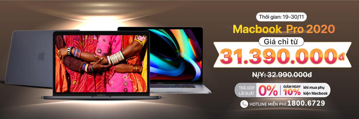 Macbook Pro 2020 giá chỉ 31.390.000đ