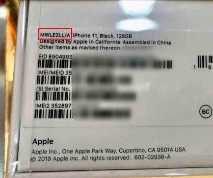 Dòng ghi mã iPhone theo thị trường