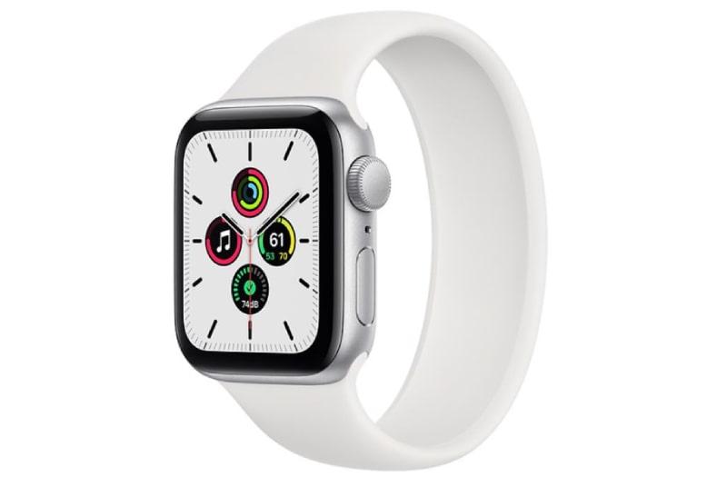 Apple Watch SE 44mm (GPS) viền nhôm bạc - Dây cao su màu Trắng (MYYX2) chính hãng