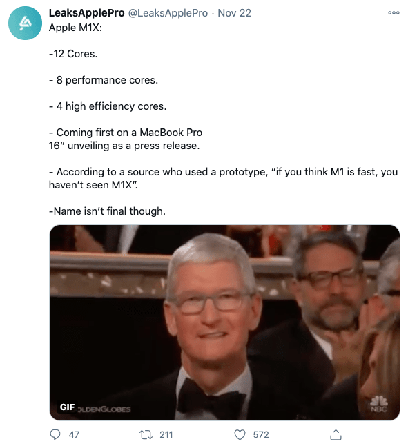 Dự kiến năm 2021 Apple cho ra mắt chip M1X