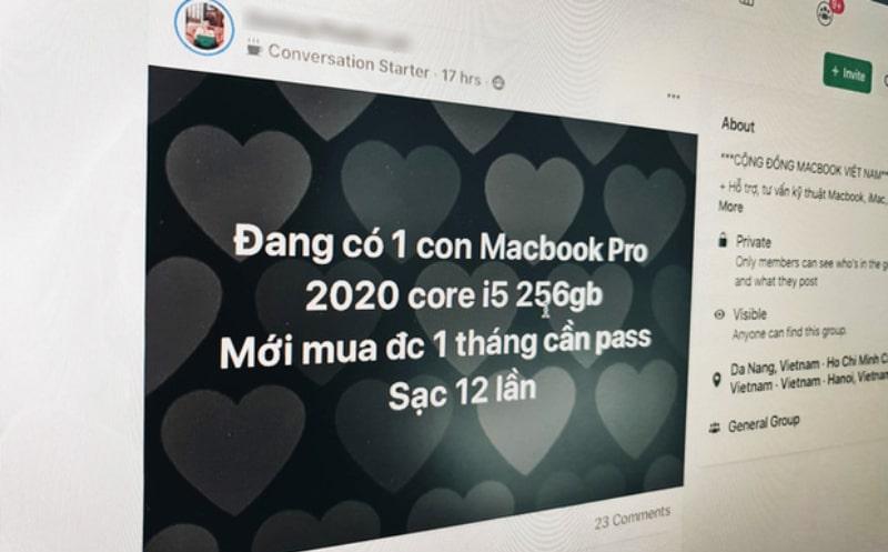 Nhiều người rao bán Macbook của họ