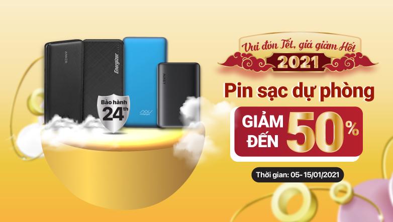 Vui đón TẾT – Giá giảm HẾT Pin sạc dự phòng giảm đến 50%