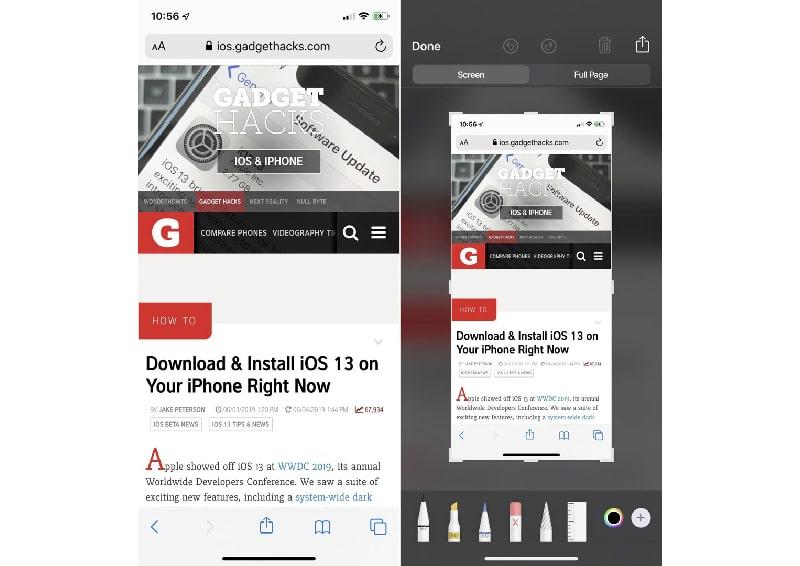 Cách chụp ảnh toàn trang web trong iOS
