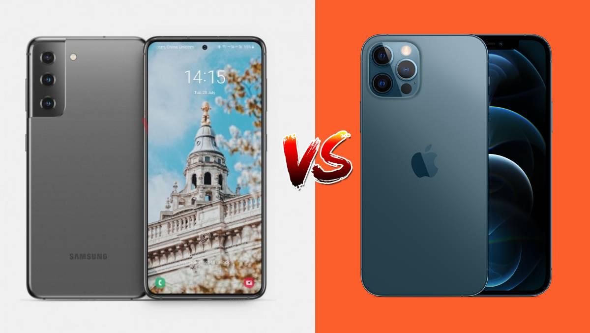 Xuất hiện video có sự xuất hiện của Galaxy S21+ 5G và được đặt lên bàn cân so sánh với iPhone 12 Pro Max