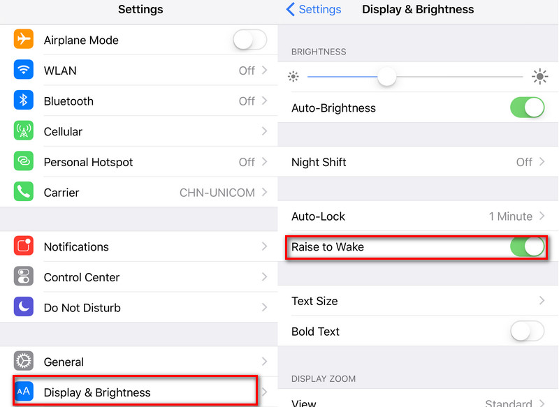 tiết kiệm pin iPhone 7 và 7 Plus raise-to-wake