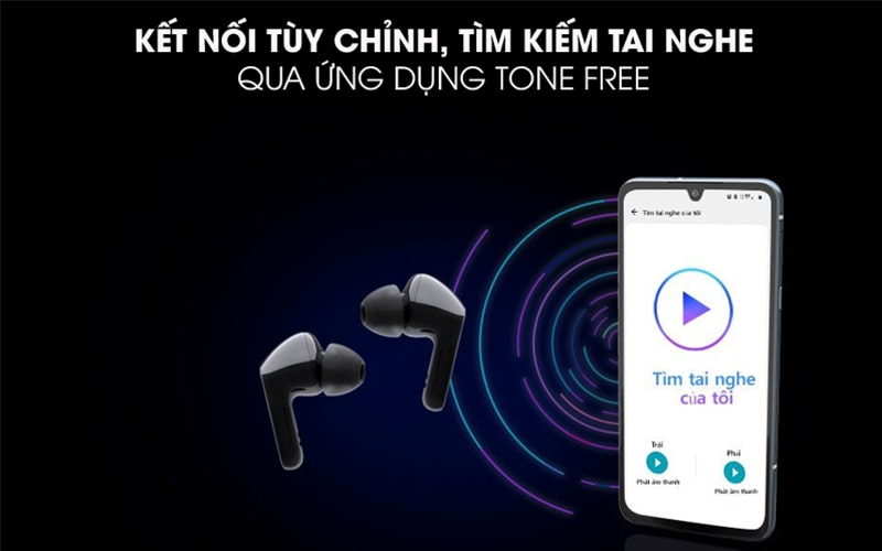Tai nghe không dây Bluetooth LG TONE Free HBS-FN6