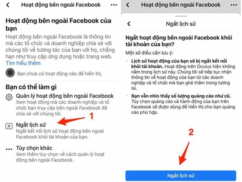 Thủ thuật ngăn Facebook theo dõi người dùng iPhone